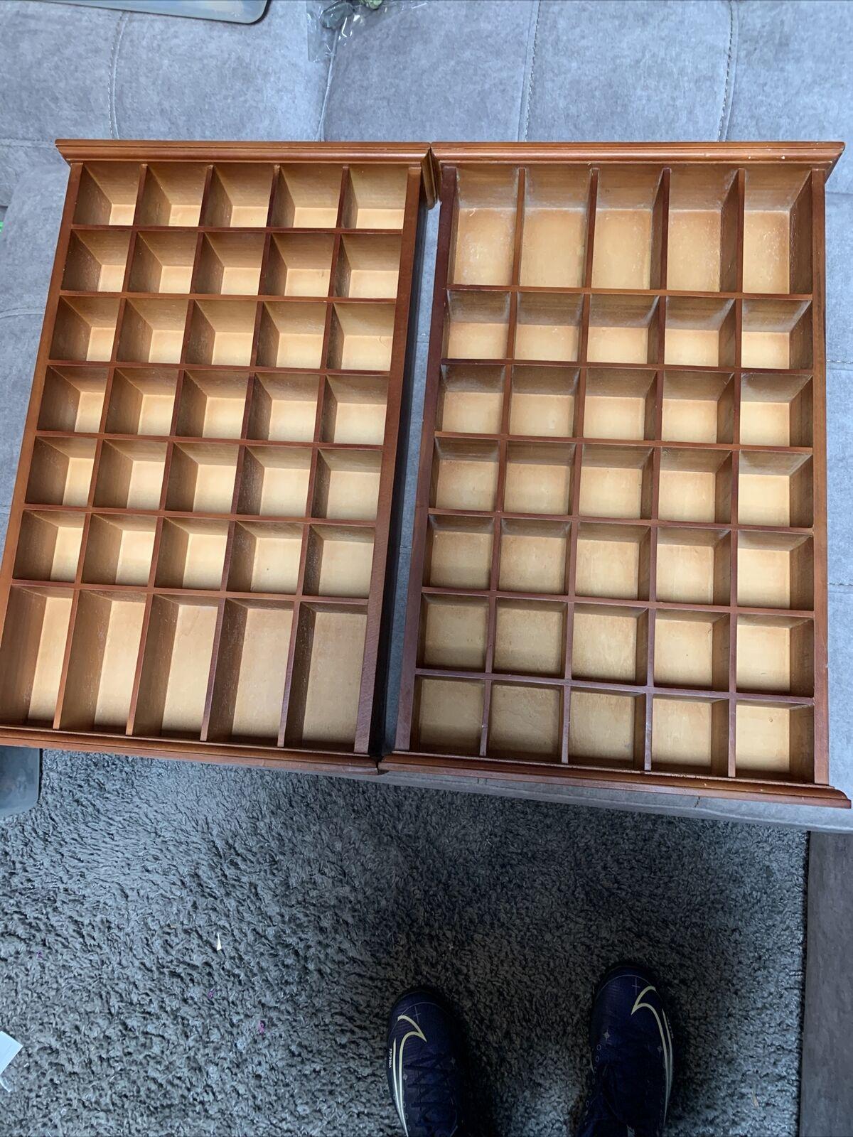 35 shot glass shooter display case holder cabinet wall rack wood set of 2