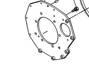 ENGINE TO TRANS PLATE FOR KUBOTA TRACTORS B4200, B5100