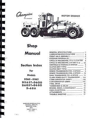 DRMCO DOMINION CHAMPION GRADER many manuals, 500 600