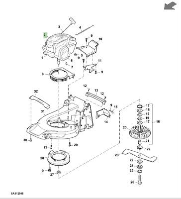 John Deere R47 Lawnmower Briggs and Stratton Petrol Engine