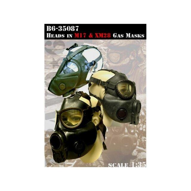 BRAVO-6 35087 Heads IN M17 & XM28 Gas Masks 1/35   eBay
