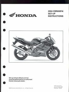 2004 HONDA CBR600F4i MOTORCYCLE SET UP INSTRUCTION MANUAL