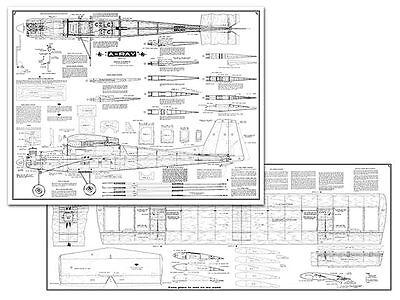 AMCO A-Ray Full Size Balsa Model Airplane Kit Printed