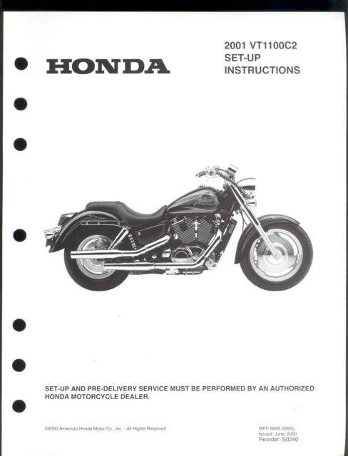 2001 HONDA VT1100C2 MOTORCYCLE SET UP & PRE-DELIVERY