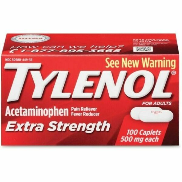 TYLENOL Extra Strength Pain Reliever Caplets 500mg for ...
