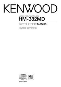 Kenwood HM-382-MD Component System Owners Instruction