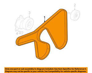 03 focus belt diagram 2002 honda accord wiring stereo ford oem 00 serpentine drive fan ys4z8620ac ebay image is loading