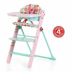 Padded High Chair Outdoor Rocking Cushions Lowes New Cosatto Waffle Highchair Baby Wooden Heidi Ebay