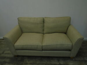 dalton sofa bed queen anne table cherry finish laura ashley ashton 2 seater in sable qa3110180361 image is loading