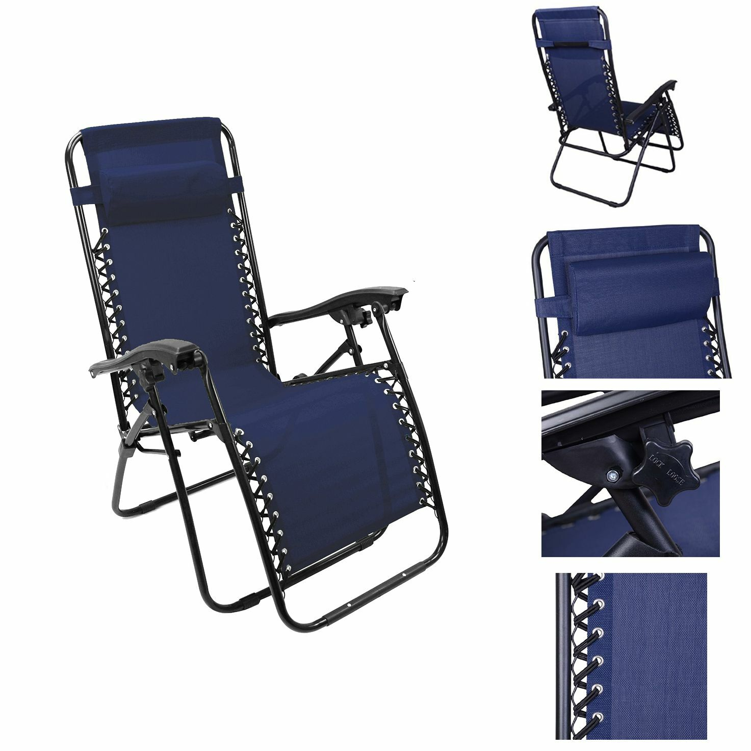 Folding Lounge Beach Chair Lounge Chair Recliner Reclining Patio Pool Beach Outdoor