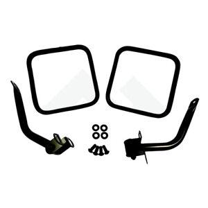 Side Mirror Kit PAIR for Jeep CJ Wrangler YJ Black 1976