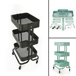 kitchen trolley cart windsor chairs slim rolling three tiers storage rack image is loading