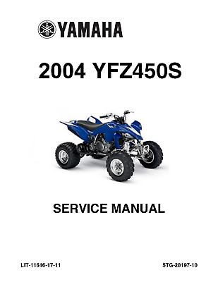 Yamaha YFZ 450 Factory Service Repair Manual 2004 YFZ450