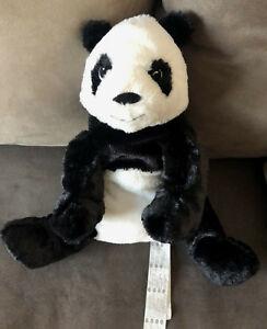 details zu doudou peluche panda blanc et noir ikea kramig 28 cm assis