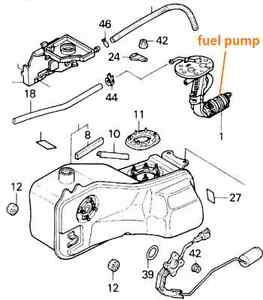 Honda gl1500 goldwing 88-01 fuel pump, FUEL 16700-mn5-000