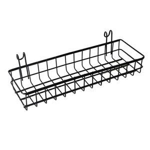 Wall Mount Organizer, Metal Wire Storage Shelf Rack Home