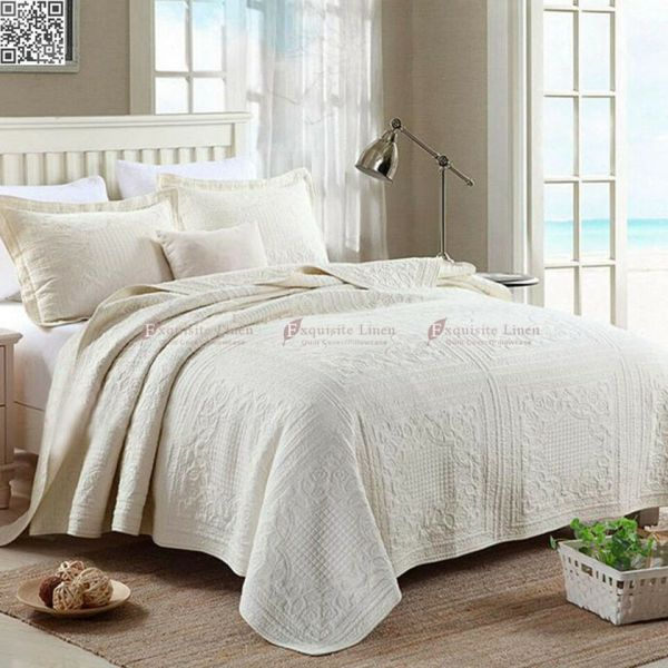 Cotton Quilted King Size Bedspreads