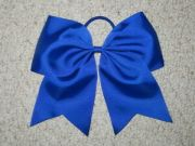 """royal blue"" cheer bow pony"