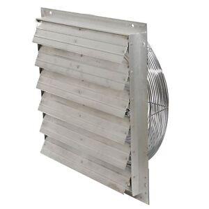 "Exhaust Shutter Fan 24"" Garage Industrial Shop Ventilator"