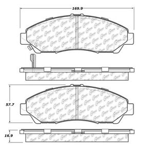 Disc Brake Pad-Posi-Quiet Ceramic Pads with Shims