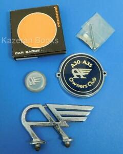 Vintage Austin Flying A Bonnet Mascot & A30 - A35 Owners Club Radiator Car Badge