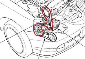 2004 Honda CRV AC Air Conditioner bypass serpentine belt
