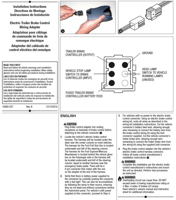 Trailer Brake Control for 97-11 Dodge RAM Dakota 98-09