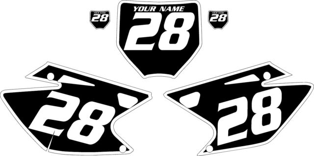 2006-2008 Kawasaki KXF250 Pre-Printed Black Backgrounds