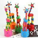 1x Wooden Kid Intellectual Educational Learning Animal Giraffe Toy Random AdtN