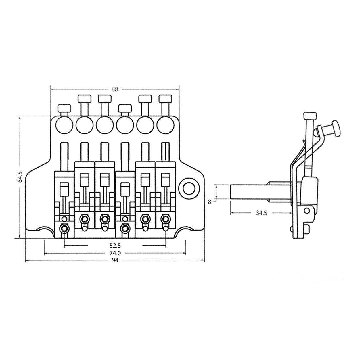Floyd Rose Double Locking Tremolo System Bridge For