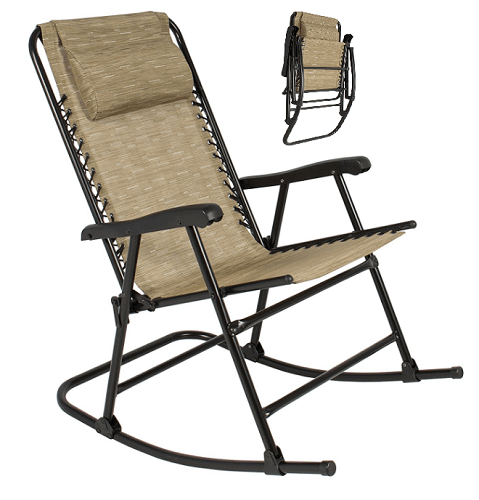 camping rocking chairs 9 to 5 for adults outdoor folding beige lightweight chair home