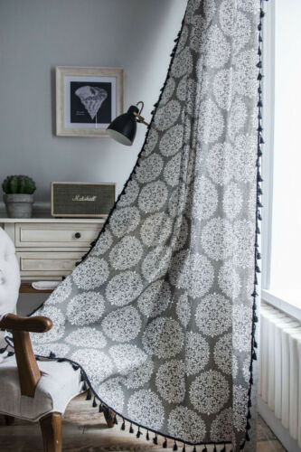 rollos gardinen vorhange cotton linen curtain with tassels boho drapes window panels screen home decor mobel wohnen