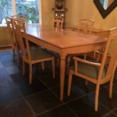 Ethan Allen Dining Room Chairs Brown Office Chair Table 2 Leaves 6 Ebay Light Maple And Console