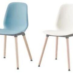 White Chair Ikea Transat Eileen Gray Leifarne Light Blue Leg Frame Multipurpose Use Image Is Loading