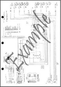 1989 Ford Ranger and Bronco II Foldout Wiring Diagram