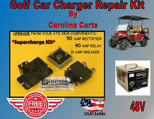 Club Car PowerDrive Battery Charger Repair Kit Golf Cart 48 V 22110 SUPERCHARGE | eBay