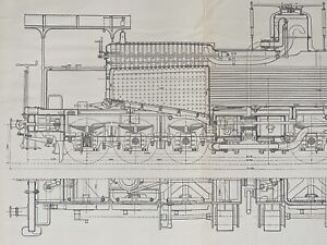 Engineering Schematic Drawings Train Locomotive