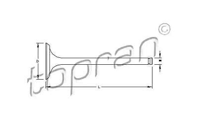 Engine Intake Valve Fits OPEL Astra F Ascona C Hatchback