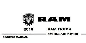 2016 Ram Truck 1500 2500 3500 Owner's Owner Owners User