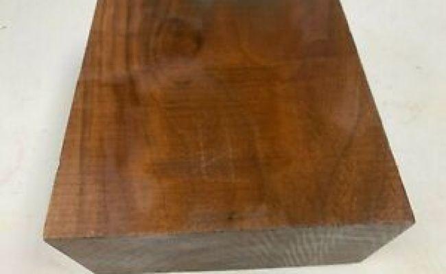 "Premium American Black Walnut Bowl Blank Lathe Turning Wood Block  5/"" X 5/"" X 3/"""