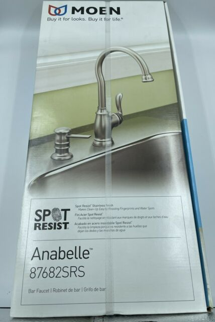 anabelle spot resist stainless steel one handle high arc bar faucet