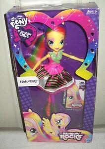 10353 Nrfb Hasbro My Little Pony Rainbow Rocks Equestria Girls Fluttershy Doll Ebay