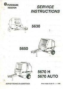 Fiatagri Hesston 5630 5650 5670 H 5670 Auto Runde