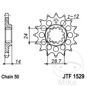 JT Front Sprocket 16T 530 Pitch JTF1529.16 Kawasaki ZRX