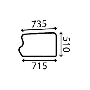 LOWER DOOR GLASS FITS JCB 536-60 536-60T 536-70 541-70