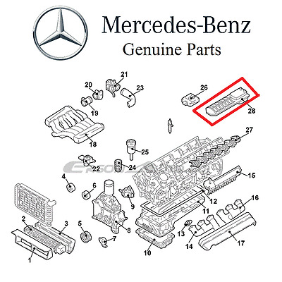 For Mercedes C215 CL600 W220 S600 V12 5.8L 2001-2002