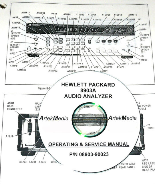 HP 8903A AUDIO ANALYZER OPERATING & SERVICE MANUAL for