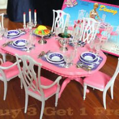 Barbie Kitchen Playset Stools Target New Fancy Life Doll House Furniture Dining Room (9712 ...