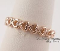 LINKED LOVE Genuine PANDORA ROSE GOLD Plated HEARTS