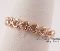 LINKED LOVE Genuine PANDORA ROSE GOLD Plated HEARTS ...